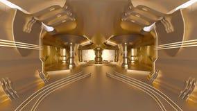 Złota stacja kosmiczna ilustracji