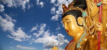 Złota statua Buddha-- chiny południowy Xian Sian, Xi'an (,) Obraz Stock