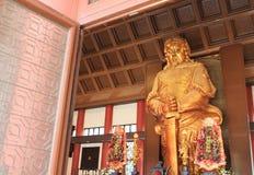 Złota statua Che Kung bóg fotografia royalty free