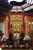 Złota statua Taoistyczny bóstwo przy Che Kung świątynią, Shatin zdjęcie royalty free
