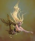 złota syrenka ilustracji