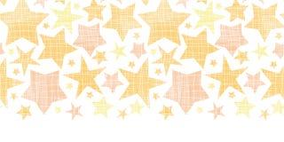 Złota tkanina textured gwiazdy horyzontalny bezszwowy Zdjęcie Royalty Free