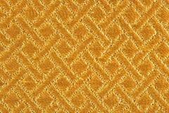 Złota tkaniny tekstura Obrazy Royalty Free