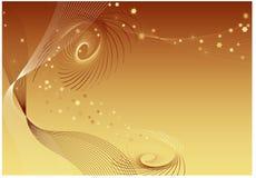 złota twirls tła royalty ilustracja