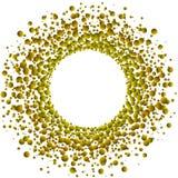 Złota Unosi się kropli rama ilustracji