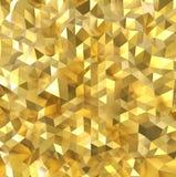 Złota wielobok ściana royalty ilustracja