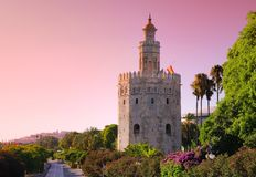 Złota wierza, Seville. Obrazy Royalty Free