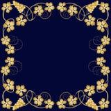 złota winorośl ramowego ilustracji