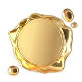 Złota wosk foka ilustracji
