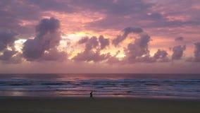 Złota wybrzeża błysku chmury Obraz Royalty Free