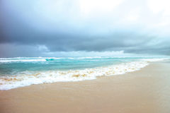 Złota wybrzeża plaża Fotografia Royalty Free