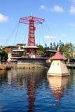 Złota Zephyr przejażdżka przy Disney Kalifornia przygody parkiem Zdjęcie Royalty Free