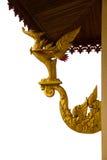 Złote łabędzie statuy ozdabiali architekturę Obrazy Stock