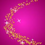 Złote błyskotliwość cząsteczki Royalty Ilustracja