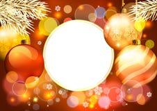 Złote boże narodzenie dekoracje Obrazy Stock