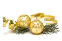 złote Boże Narodzenie dekoracje obrazy royalty free