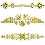 złote dividers royalty ilustracja