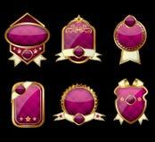 złote etykietki ustawiający wektor Zdjęcia Royalty Free