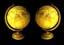 złote globusy royalty ilustracja