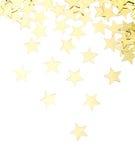 Złote gwiazdy odizolowywać Zdjęcie Royalty Free