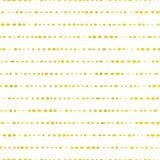 Złote horyzontalne linie kropkować tło bezszwowy wektora Klasyczna i elegancka złocista folia na białej teksturze Wielki dla ślub ilustracja wektor