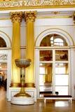 Złote kolumny główna tronowa sala erem Fotografia Stock