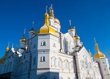 Złote kopuły Pochaiv Lavra zdjęcie royalty free