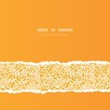 Złote koronkowe róże drzejący kwadratowy bezszwowy wzór Obrazy Stock