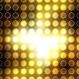 Złote kropki Zdjęcie Stock