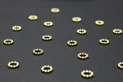 złote kropki zdjęcia stock
