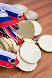złote medale Obrazy Royalty Free