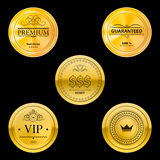 Złote metal odznaki Zdjęcia Stock