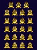Złote odznak kolekcje, wektorowa ilustracja ilustracja wektor
