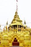 Złote pagody Fotografia Royalty Free