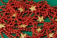 złote pereł czerwieni gwiazdy Obrazy Royalty Free