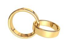 złote pierścienie Obrazy Royalty Free