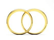 złote pierścienie poślubić Obraz Royalty Free