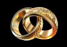 złote pierścienie poślubić ilustracja wektor