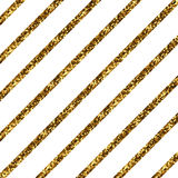 Złote przekątien linie Zdjęcia Royalty Free