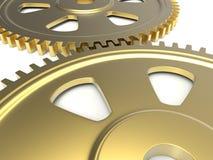 Złote przekładnie ilustracyjne Zdjęcie Stock