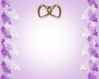złote serce lawendę zaproszenia na ślub Obraz Stock