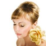 złote włosy obrazy royalty free