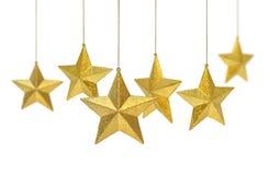 złote wiszące gwiazdy obrazy stock