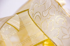 złote wstążki Obrazy Royalty Free