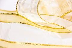 złote wstążki Fotografia Stock