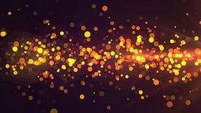 Złotego cząsteczka lampasa świąteczny tło ilustracja wektor