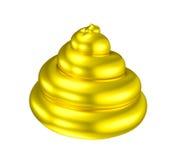 Złotego kaku gówna błyszczący złudzenie Obraz Stock