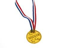 Złotego medalu zwycięzcy breloczek Obrazy Stock