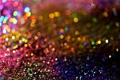 Złotej błyskotliwości tekstury Colorfull Zamazany abstrakcjonistyczny tło Zdjęcie Royalty Free