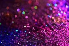 Złotej błyskotliwości tekstury Colorfull Zamazany abstrakcjonistyczny tło Fotografia Royalty Free